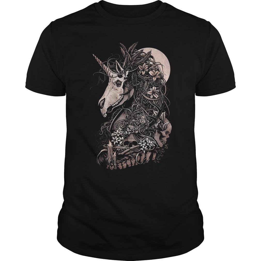 Unicorn skull shirt