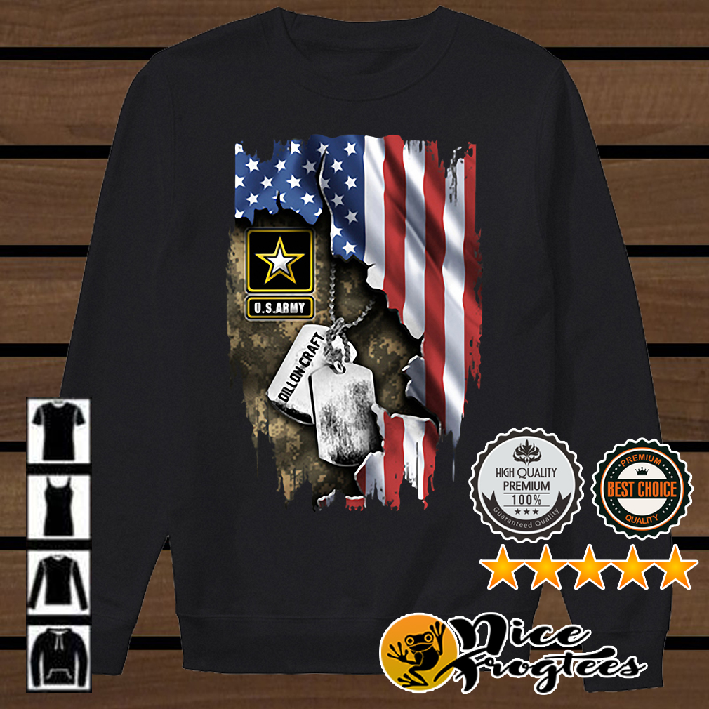 US Army inside America flag Independence day 4th of July shirt