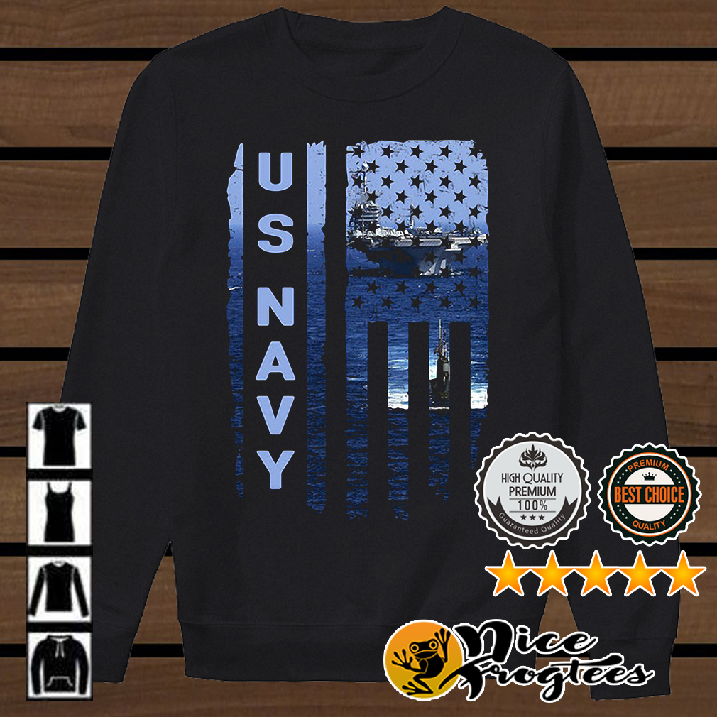 US Navy American flag shirt