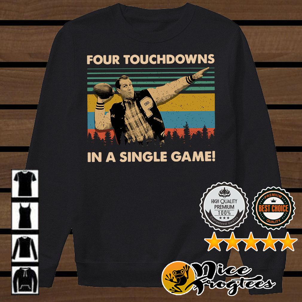 Vintage Football legend Al Bundy four touchdowns in a single game shirt