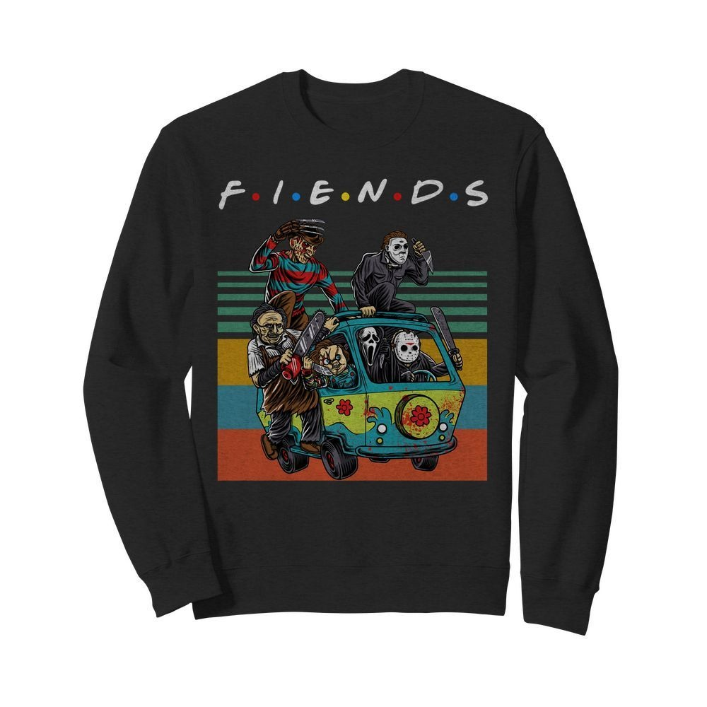 Vintage Friends TV Show Horror film characters Sweater