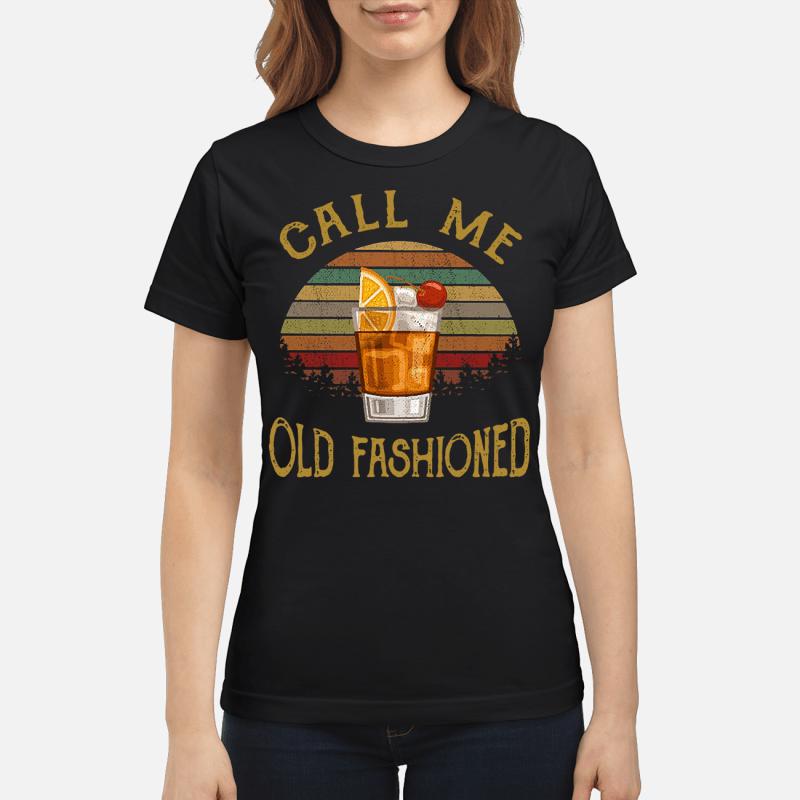 Vintage lemon juice call me old fashioned Ladies tee