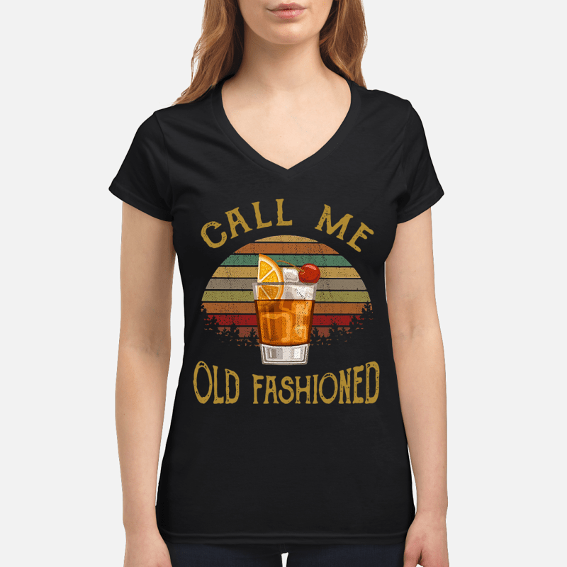 Vintage lemon juice call me old fashioned V-neck t-shirt