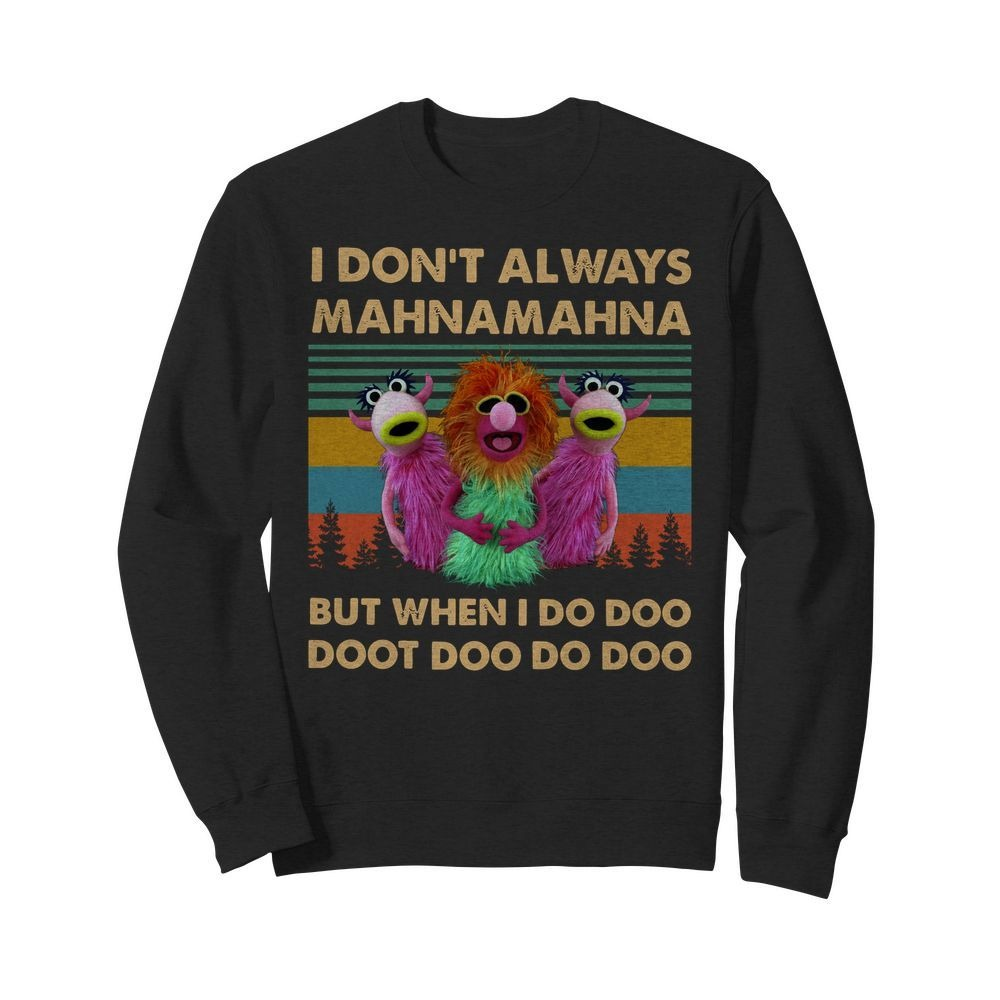 Vintage The Muppet show I don't always MahnaMahna but when I do Doo Doot Sweater
