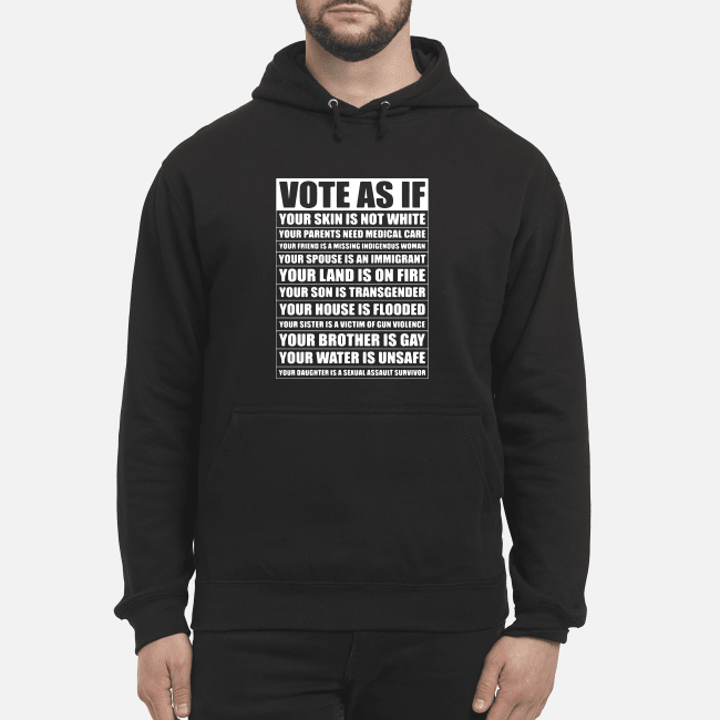 Vote as if your skin is not white your parents need medical care Hoodie