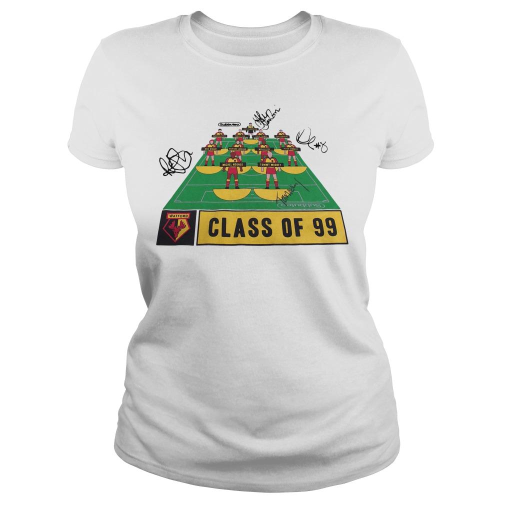Watford Football Club class of 99 signature Ladies tee