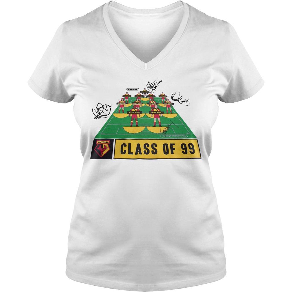 Watford Football Club class of 99 signature V-neck t-shirt