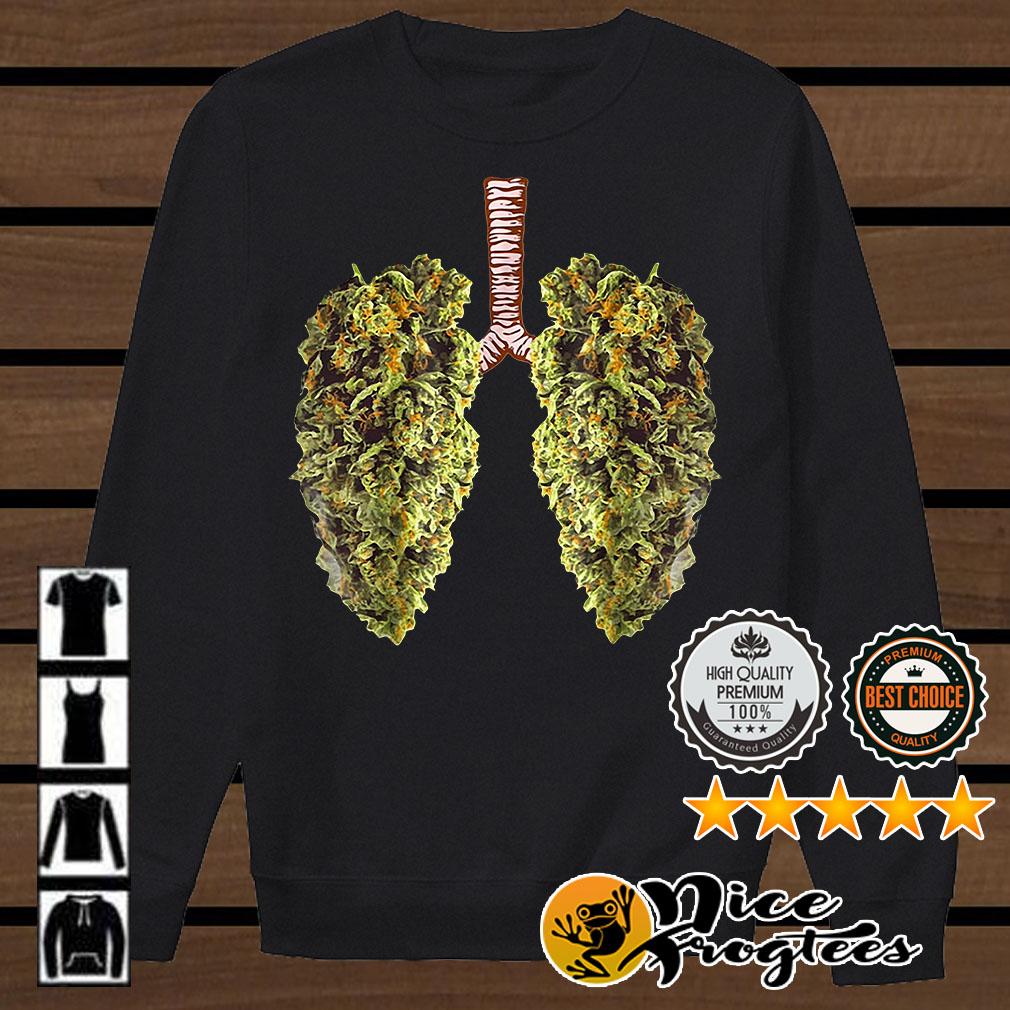 Weed Lung Marijuana Bid Lung Smoke Weed shirt