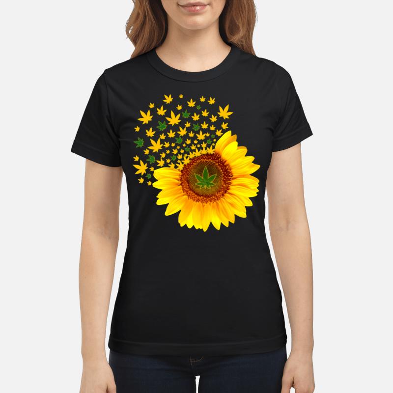 Weed sunflower Ladies tee