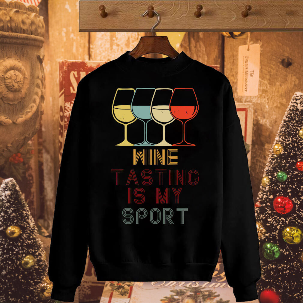 Wine tasting in my sport shirt