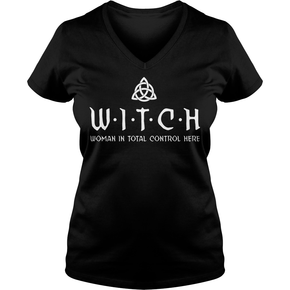 Witch woman in total control here V-neck t-shirt