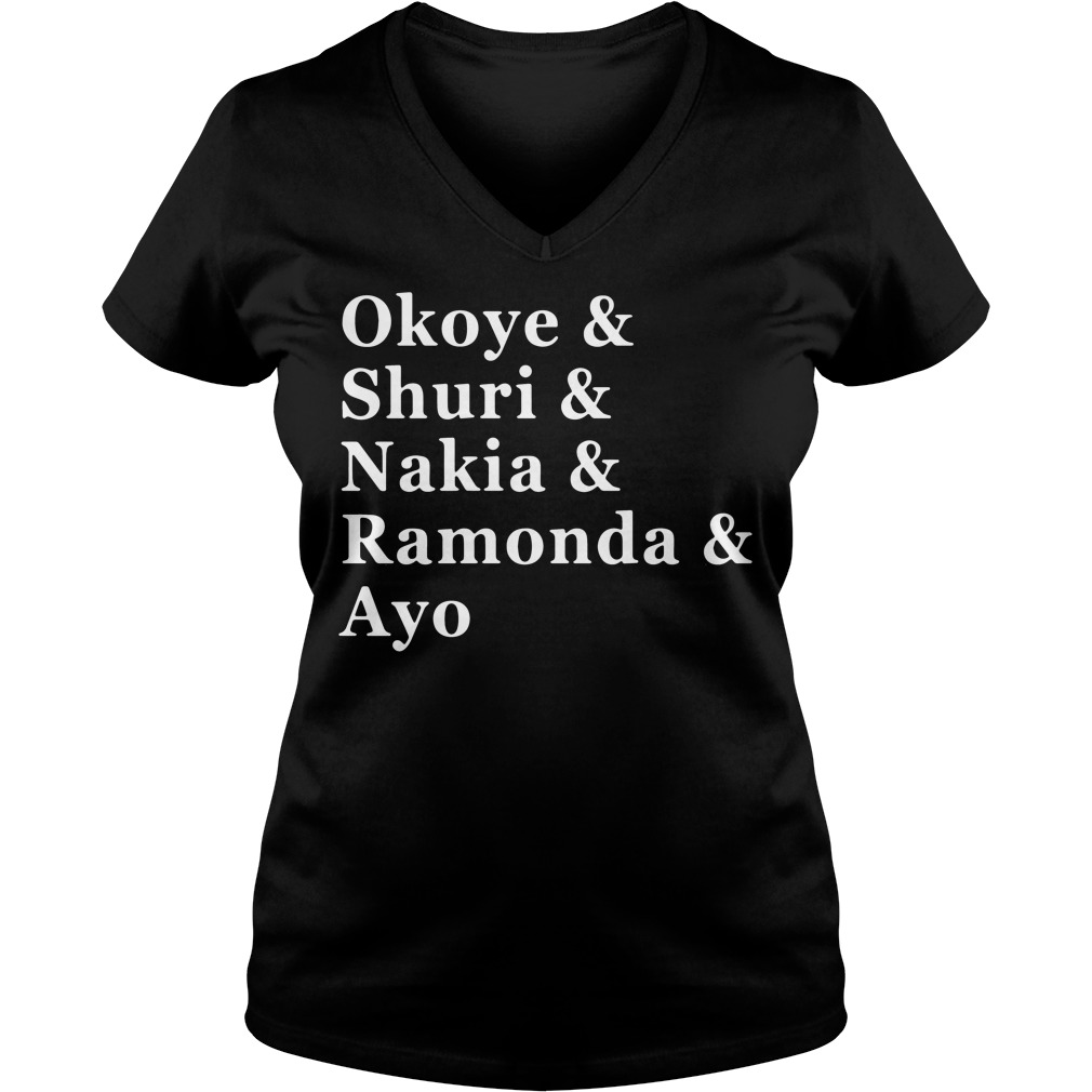 Women of Wakanda Black Panther: Okoye and Shuri V-neck t-shirt