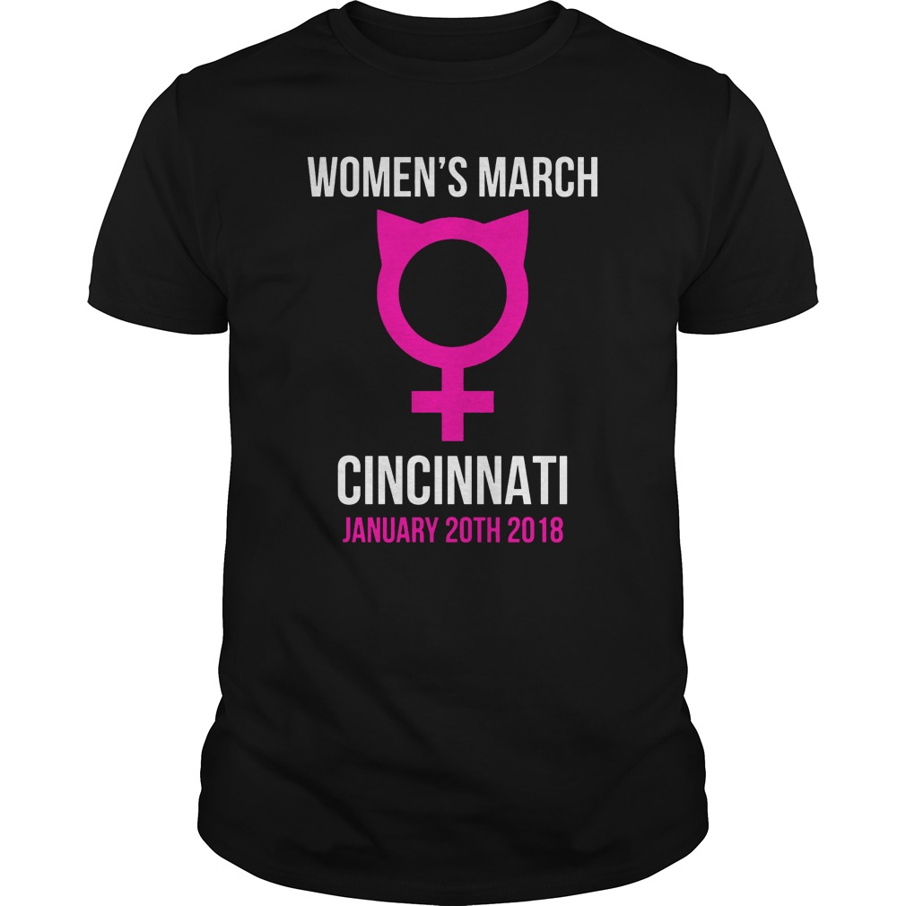 Women's March Pussyhat Cincinnati January 20th 2018 Guys shirt