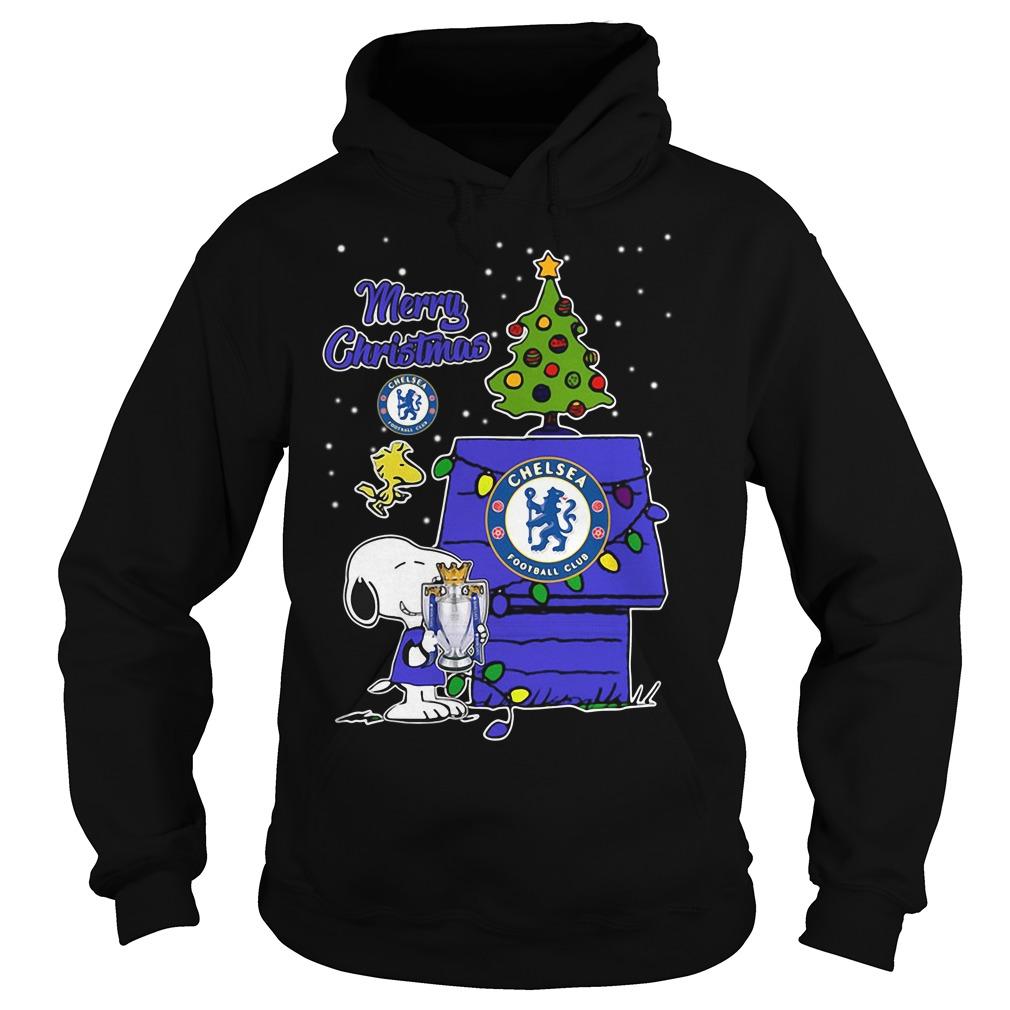 Snoopy Woodstock Chelsea Merry Christmas Hoodie