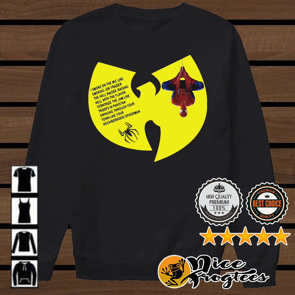 Wu-Tang Clan Spiderman Protect Ya Neck lyrics I smoke on the mic shirt