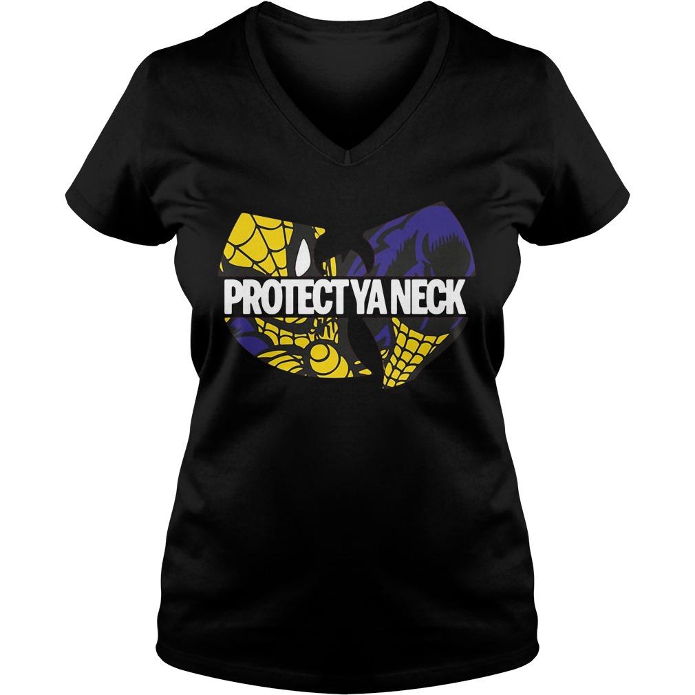 Wu-Tang Clan Spiderman protect ya neck V-neck t-shirt