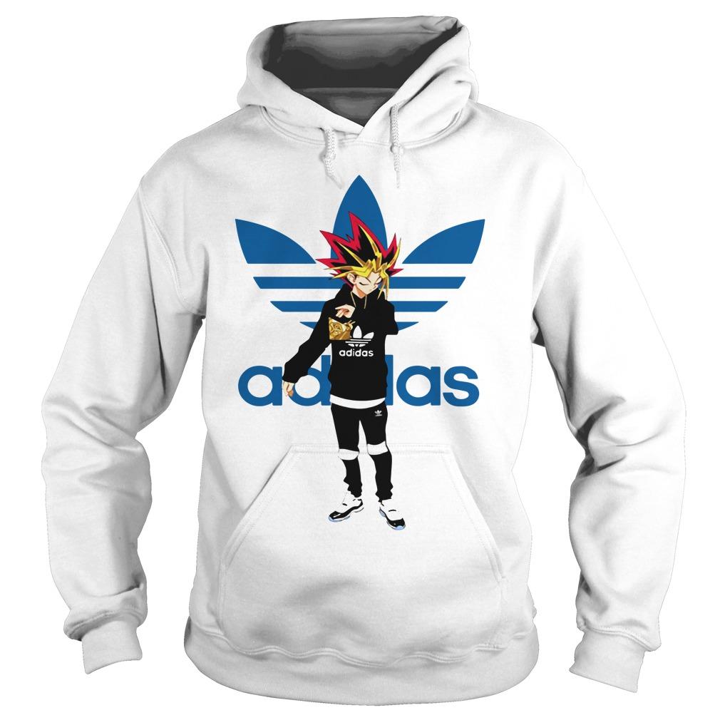 Yu-Gi-Oh adidas logo Hoodie