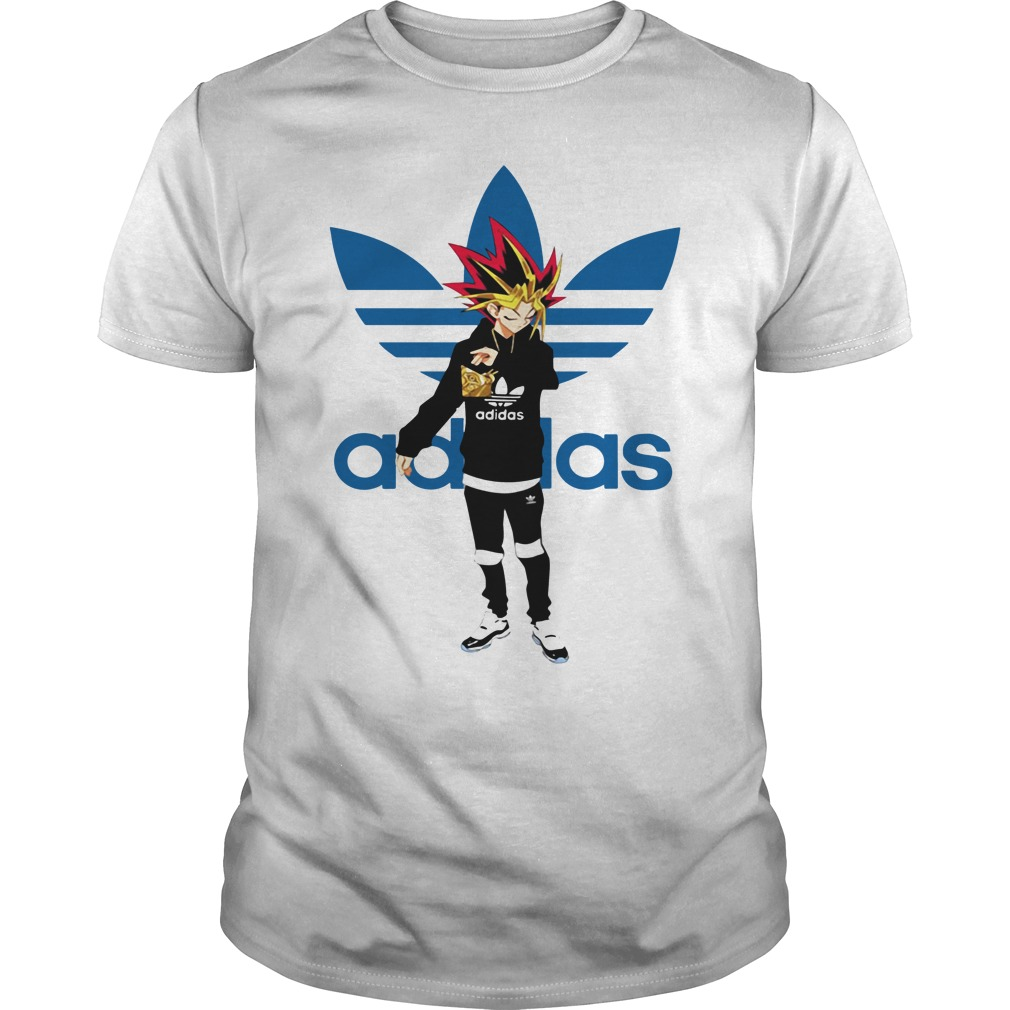 Yu-Gi-Oh adidas logo shirt