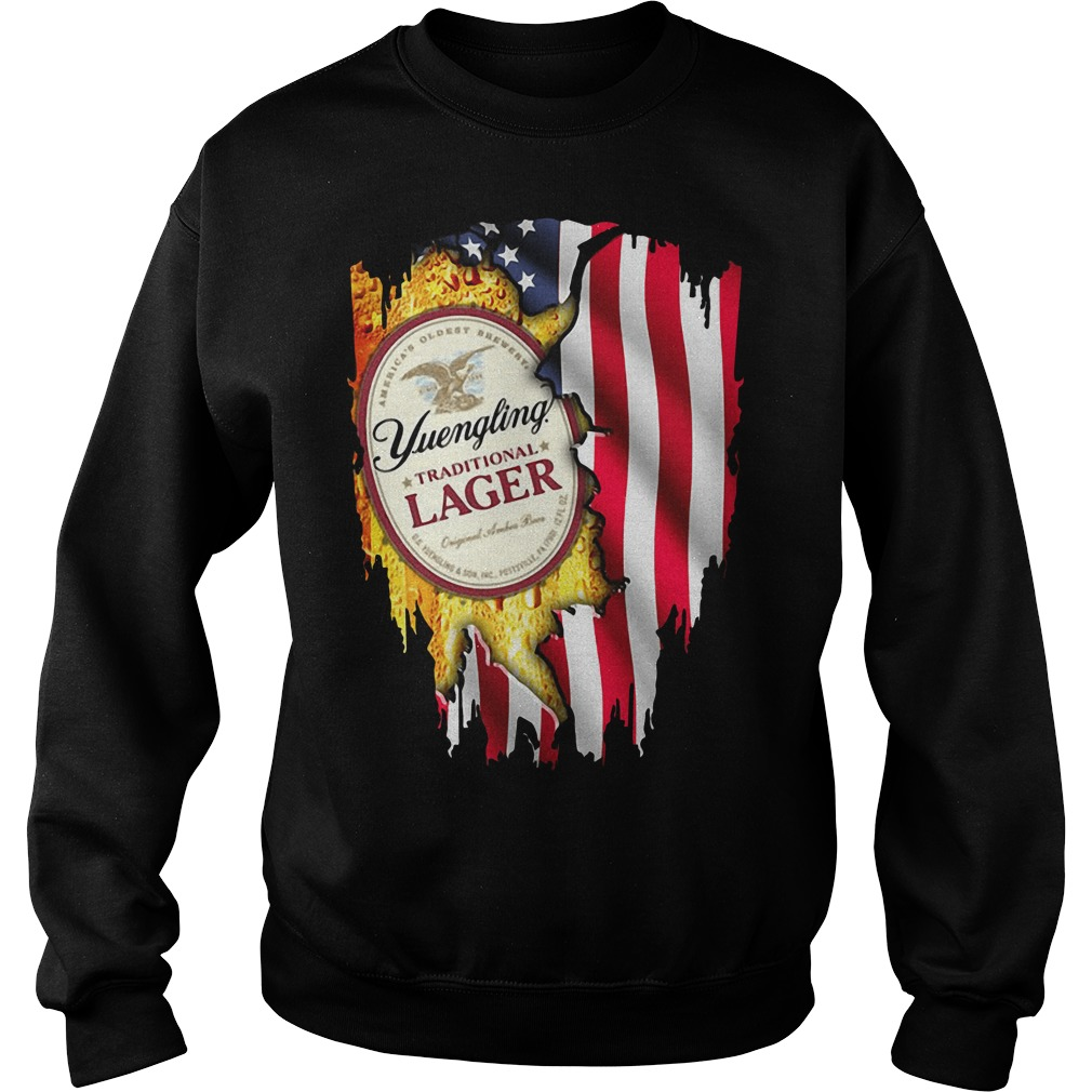 Yuengling Traditional Lager inside American flag Sweater