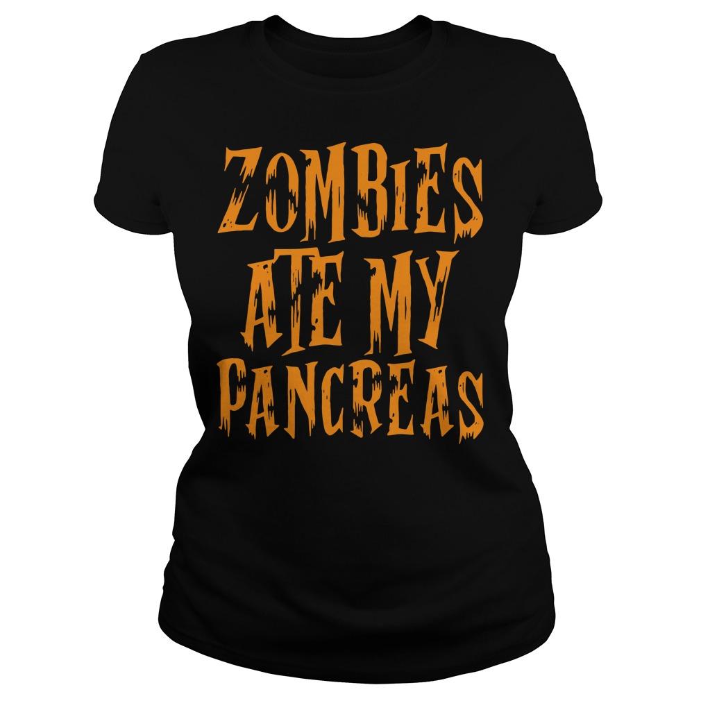Zombies Ate My Pancreas Ladies Tee