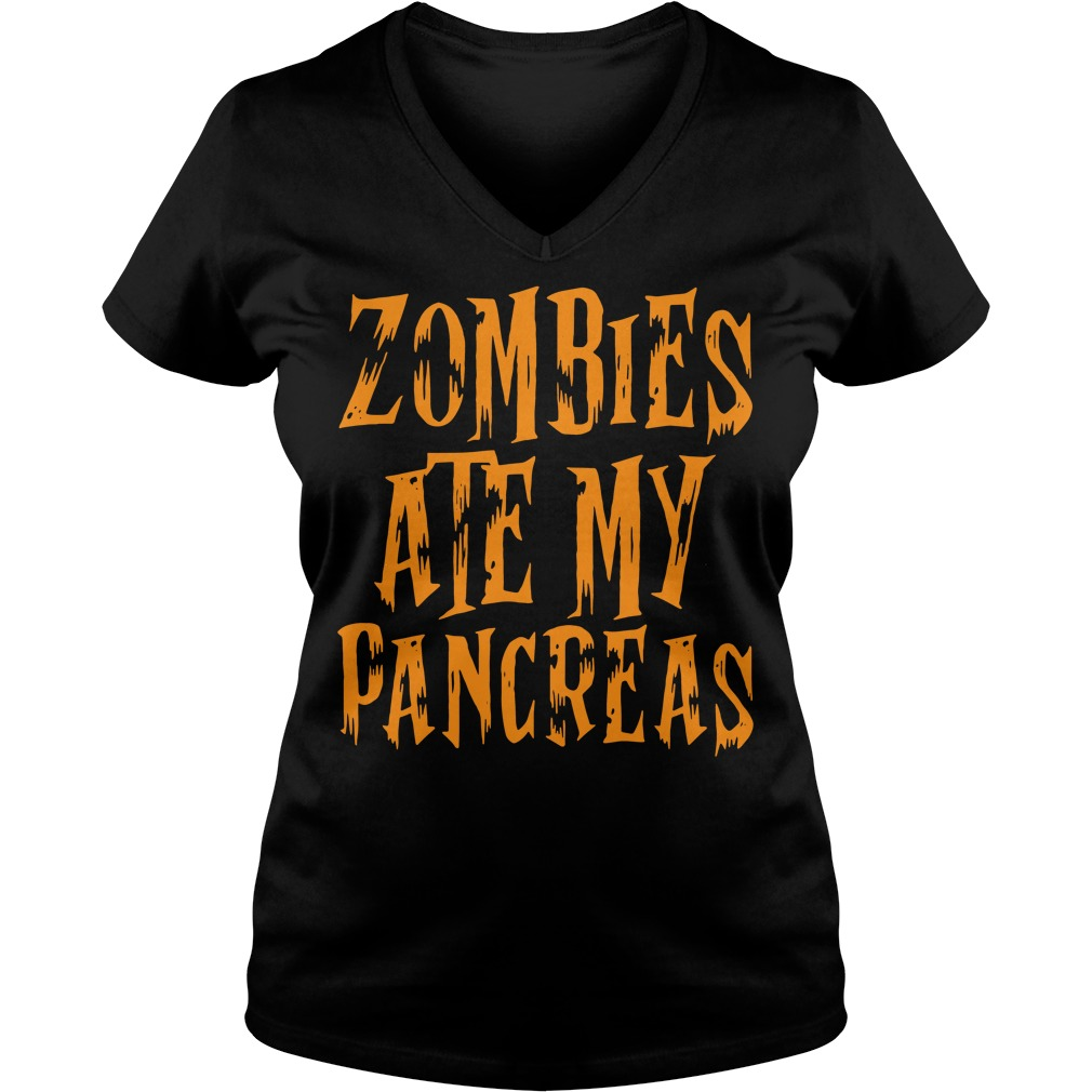 Zombies Ate My Pancreas V-neck T-shirt
